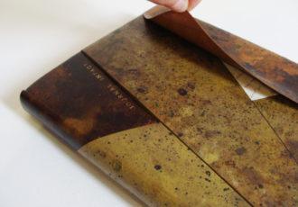 reliure-art, reliure-creation, bookbinding, reliure-papier, paper-bookbinding, julie-auzillon, reliure-a-la-francaise, reliure-cinq-ficelle, reliure-passee-en-carton
